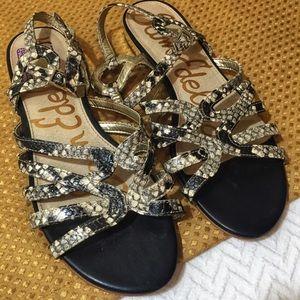 Sam Edelman Snake Skin Sandals
